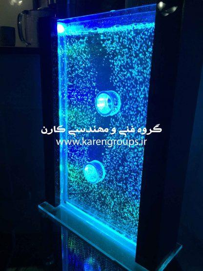 پروژه آبنمای حبابی یا آکواریم حبابی در دفترکار شرکت فنی و مهندسی